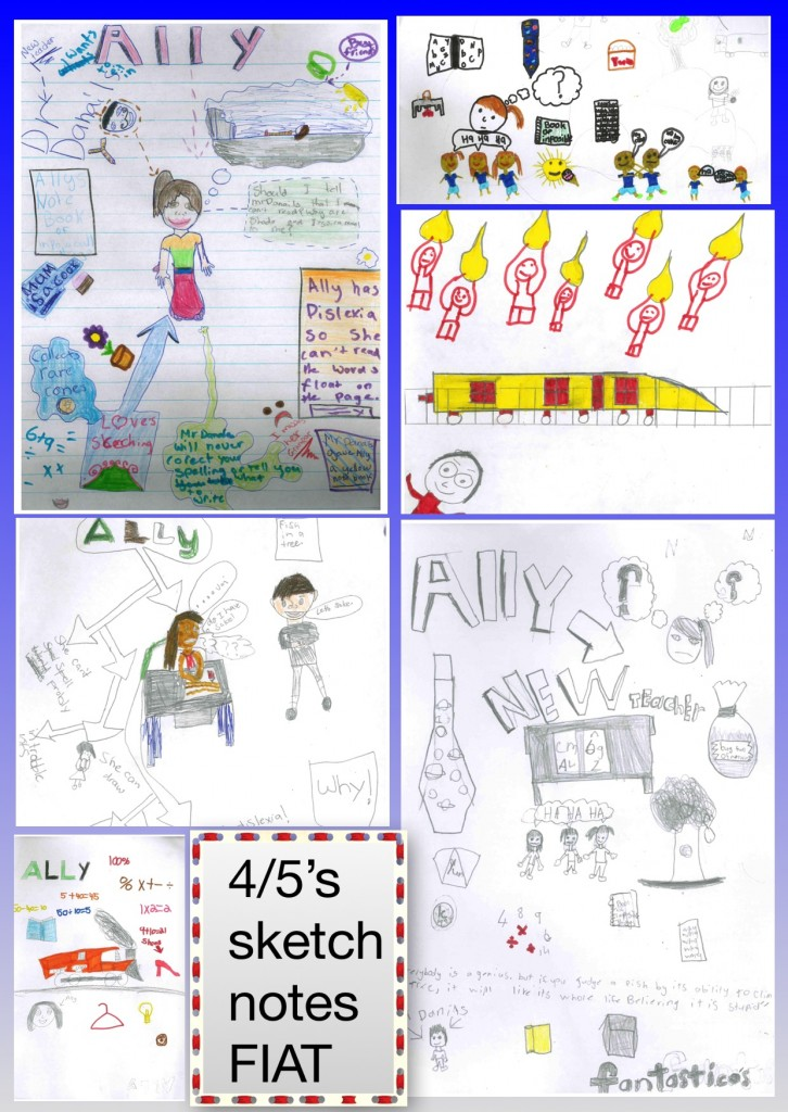Our class loved sketchnoting during week 2 of the Global Read Aloud!